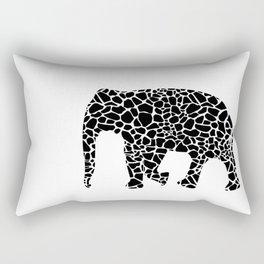 Elephant with giraffe print Rectangular Pillow