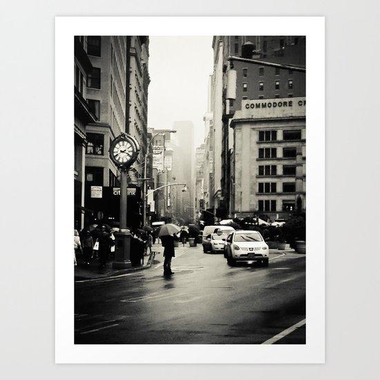 New York City - 5th Avenue in the Rain Art Print