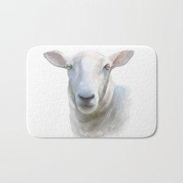 Watercolor Sheep Bath Mat