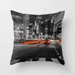Shibuya Blur Throw Pillow