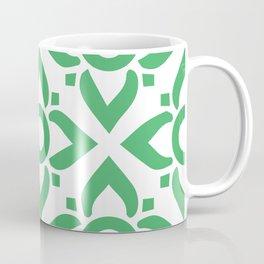 illustration decorative green seamless vector pattern floral motifs Coffee Mug