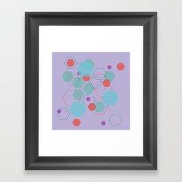 Hexagon Little Mermaid Framed Art Print
