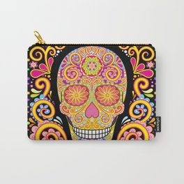 Day of the Dead Sugar Skull (Psychedelia) Carry-All Pouch