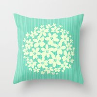 hawaiian Throw Pillows featuring Hawaiian Blue  by Endless Summer