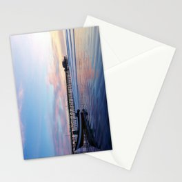 Dory Sunset Newport Beach Pier Stationery Cards