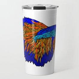Betta Fighting Fish _ Orange Travel Mug