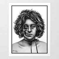 Death Walks Among Us Art Print