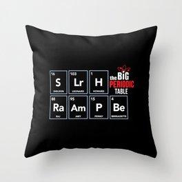The Big (Bang) Periodic Table Throw Pillow