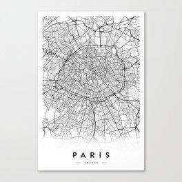 PARIS CITY MAP Canvas Print