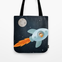 Kid Astronaut Tote Bag