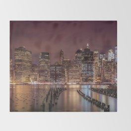 NEW YORK CITY Nightly Impressions | Panoramic Throw Blanket