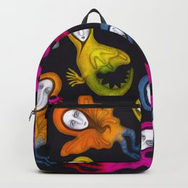 colorful hybrid witches Backpack