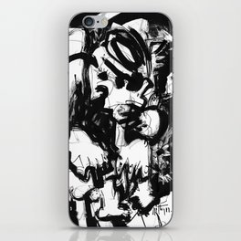 Saint With Bird - b&w iPhone Skin
