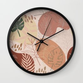 Pink Terracotta Pattern Wall Clock