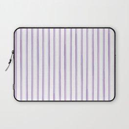 Purple Watercolour Stripes Laptop Sleeve
