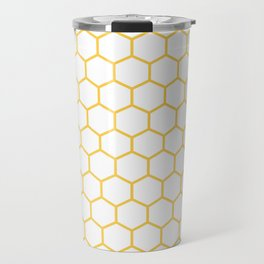 Honeycomb (Light Orange & White Pattern) Travel Mug