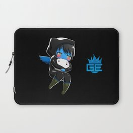Fuzzy Chibi Luc (Expression 2) w/ Black Background (no cloud) Laptop Sleeve