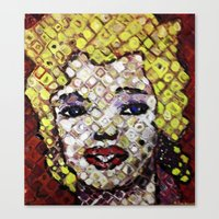 marylin monroe Canvas Prints featuring MARYLIN MONROE by JANUARY FROST