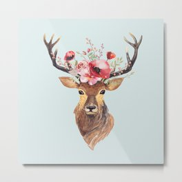 Bohemian Deer 2 Metal Print