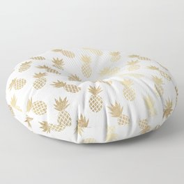 Gold Pineapple Pattern Floor Pillow