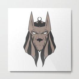 Anubis face Metal Print