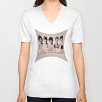 one direction V-neck T-shirts featuring One Direction by store2u