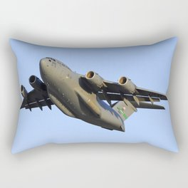 C-17 Globemaster Aviation USAF Take Off Rectangular Pillow