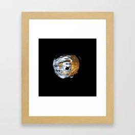 Gold acrylic paint. Framed Art Print
