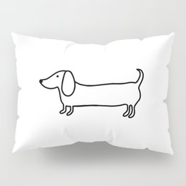 Simple dachshund black drawing Pillow Sham
