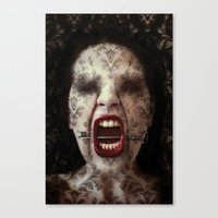 ahs Canvas Prints featuring AHS by lady amarillis