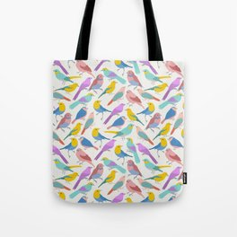Dazzling Colored Bird Pattern Tote Bag