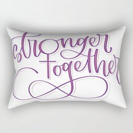 Stronger Together - Purple Rectangular Pillow