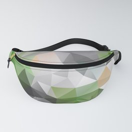 Grey green polygonal pattern Fanny Pack