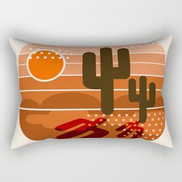 Mightyfine - 70s retro throwback desert southwest socal cali 1970's vibes art Rectangular Pillow