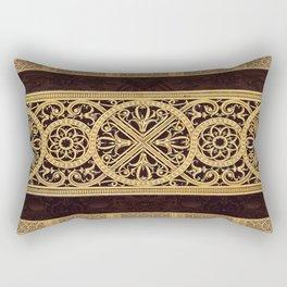Golden Ornement Rectangular Pillow