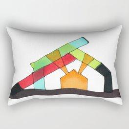 Bright Light Architectural Illustration Rectangular Pillow