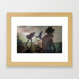 passed tense Framed Art Print