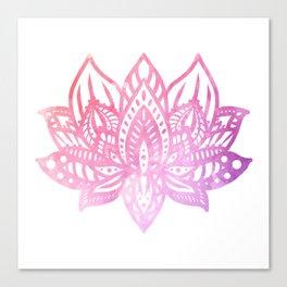 Pink Lotus Mandala Canvas Print