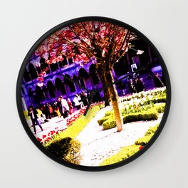 Intense and living colors. Wall Clock