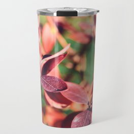 RED BLUEBERRY LEAVES Travel Mug