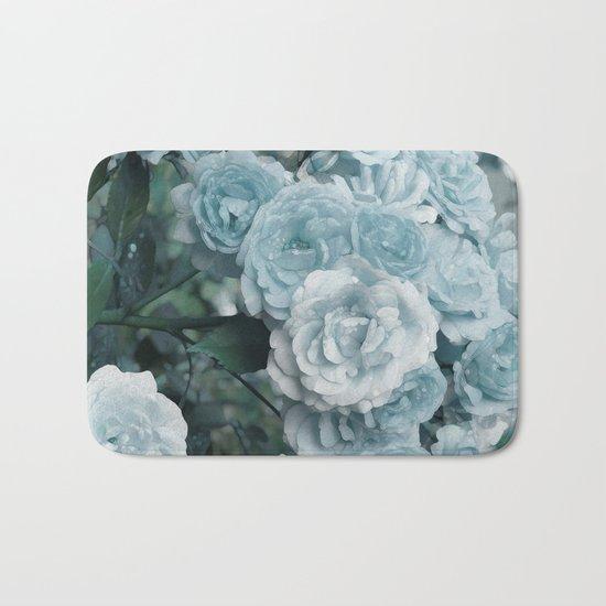 A cloud of blue roses Bath Mat