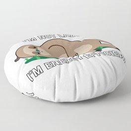 I'm Not Lazy I'm Energy Efficient Floor Pillow