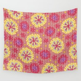 Kantha floral 7 Wall Tapestry