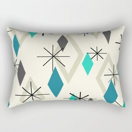 Mid Century Modern Diamonds Rectangular Pillow