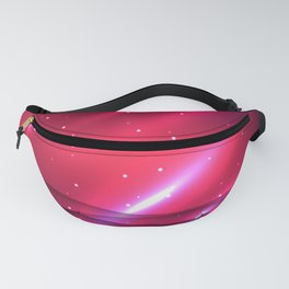 Pink abstract waves Fanny Pack