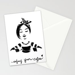 Enjoy Your Coffee Stationery Cards
