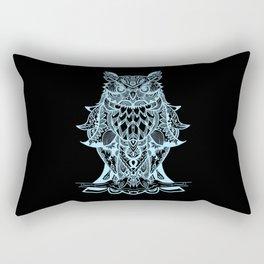 Mystic Owl in Light Blue Rectangular Pillow