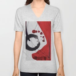Enso Of Zen 102A by Kathy Morton Stanion Unisex V-Neck