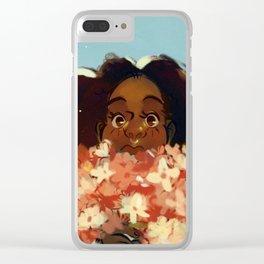 Merflowers Clear iPhone Case