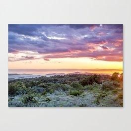colorful sunset over the Ciovo island, Croatia Canvas Print
